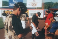 David Wright signs autographs in Binghamton in 2004.