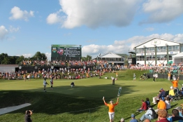 The 18th hole at En-Joie during the Dick's Sporting Goods Open in 2014.