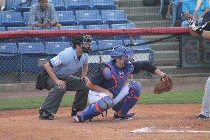 New York Mets' catcher Travis d'Arnaud played at NYSEG on a rehab assignment in the final week of July of this year!